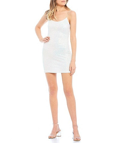 B. Darlin Sequin Bungee Strap Back Bodycon Dress