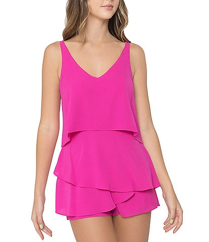 B. Darlin Sleeveless Popover Romper
