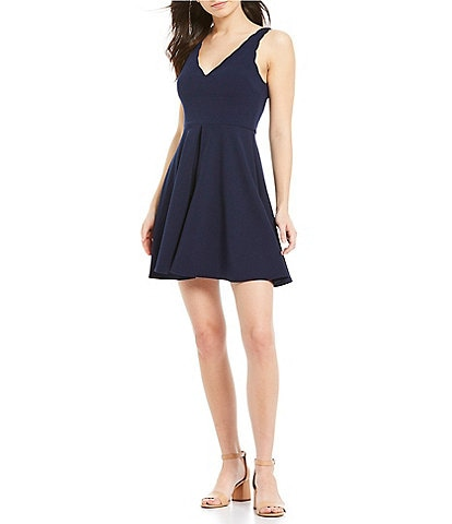 B. Darlin Sleeveless Tie-Back Fit & Flare Dress