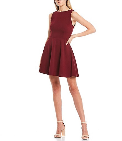 B. Darlin Sleeveless Tie-Back Skater Dress