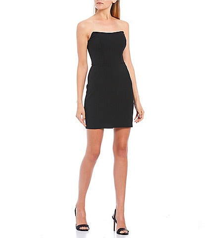 B. Darlin Strapless Point Neck Bodycon Dress