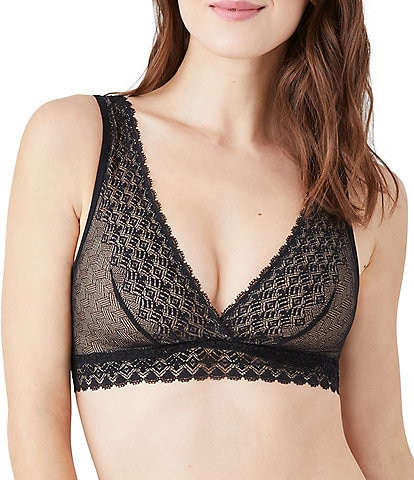 b.tempt'd by Wacoal Net Perfection Lace V-Neck Coordinating Bralette