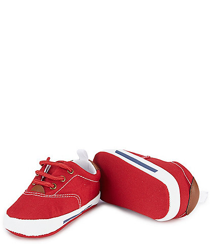Baby Deer Canvas Lace-Up Crib Shoe Sneakers