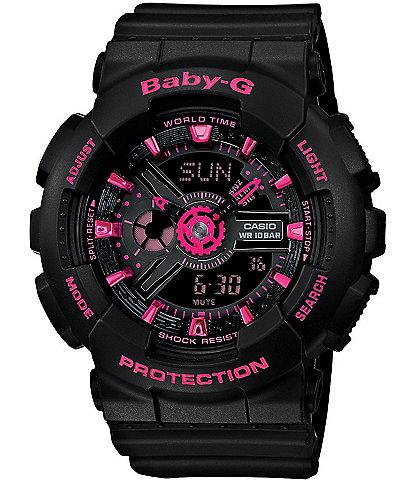 Baby-G Street Neon Black & Pink Resin Bracelet Ana-Digi Watch