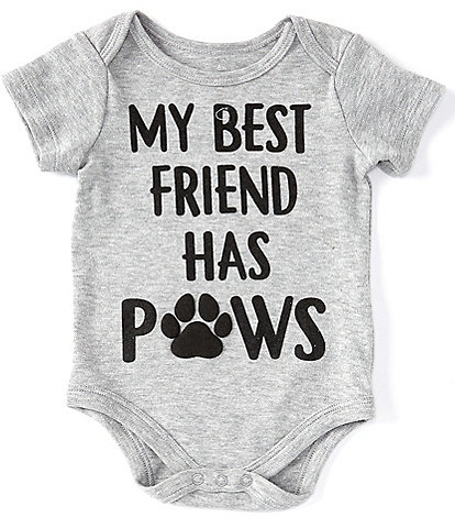 Baby Starters Baby 3-12 Months Short-Sleeve My Best Friend Has Paws Bodysuit