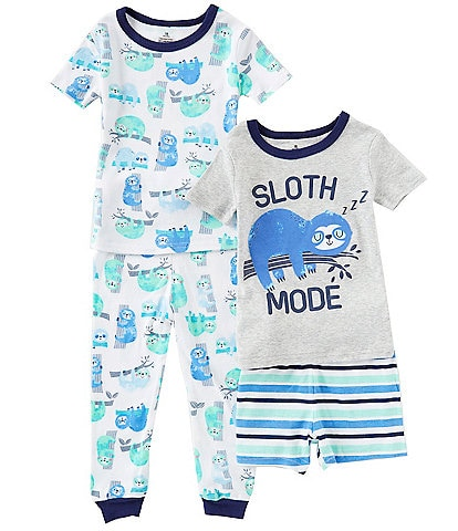 f100ca15a Baby Starters Baby Boys 12-24 Months Sloth Mode Four-Piece Pajamas Set