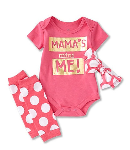 Baby Starters Baby Girl 3-12 Month Mamas Mini Me 3-Piece Set