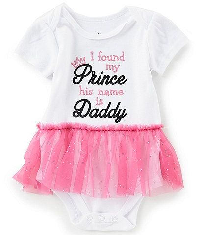 6cd2708020d Baby Starters Baby Girls 3-12 Months Short-Sleeve I Found My Prince Bodysuit