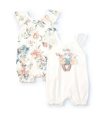 NEW Girls 2 Piece Set Size 12 Months Tank Top Shirt Shorts Outfit Blue Floral