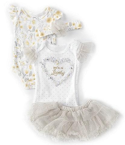 Baby Starters Baby Girls Newborn-9 Months So Lovely Tutu 4-Piece Set