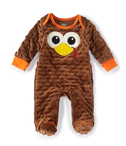 Baby Starters Baby Newborn-9 Months Thanksgiving Turkey Footed Coverall