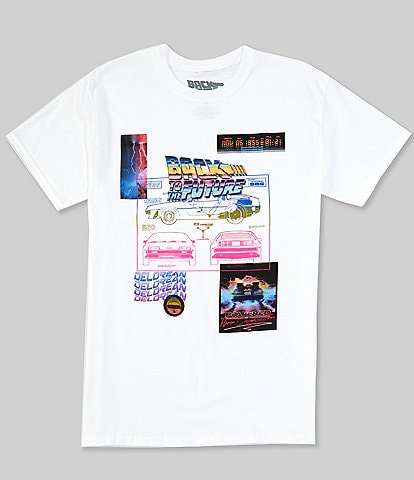 Back To The Future Back 2 Future Delorean Graphic Short-Sleeve T-Shirt
