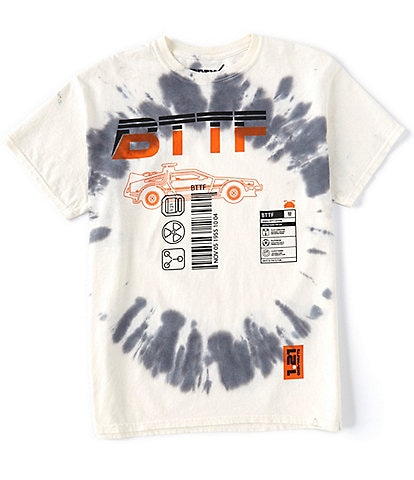 Back To The Future Space Invader Graphic Tie-Dyed Short-Sleeve T-Shirt