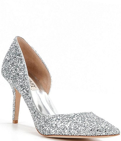 Badgley Mischka Daisy Glitter d'Orsay Pumps