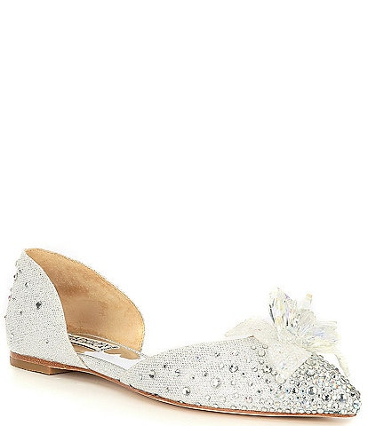 Badgley Mischka Haddie Ornament Detail d'Orsay Flats