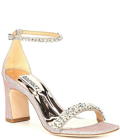 Badgley Mischka Harriet Jewel Embellished Dress Sandals
