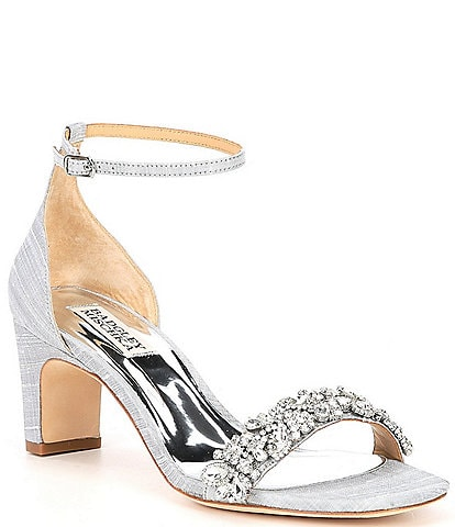 Badgley Mischka Jackie Embellished Dress Sandals