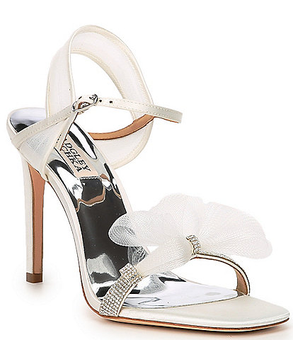 Badgley Mischka Jessica Embellished Satin Dress Sandals