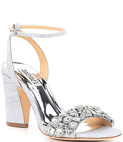 Badgley Mischka Jill Crystal Embellished Dress Sandals