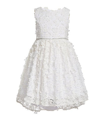 Badgley Mischka Little Girls 4-6X 3D Floral Hi-Low Dress
