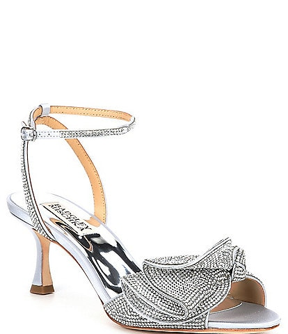Badgley Mischka Remi Crystal Embellished Detail Dress Sandals
