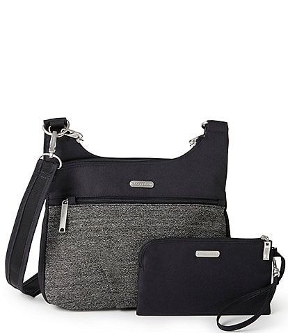 Baggallini Anti-Theft Cross Over Crossbody Bag With Removable Wristlet