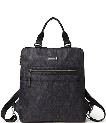 Baggallini City Lights Collection Jessica Python Convertible Tote Backpack