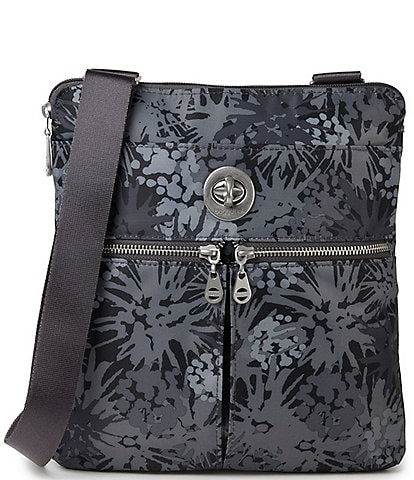 Baggallini Madras RFID Water Resistant Printed Fabric Crossbody Bag