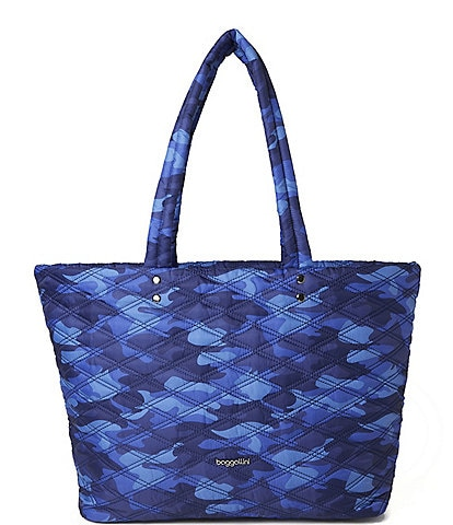 Handmade Tote Bag Tote Bag with Pockets Quilted Bag Colonial Blue Tote Plaid Bag Blue Tote Bag Tote for Women Colonial Rag Quilt Tote