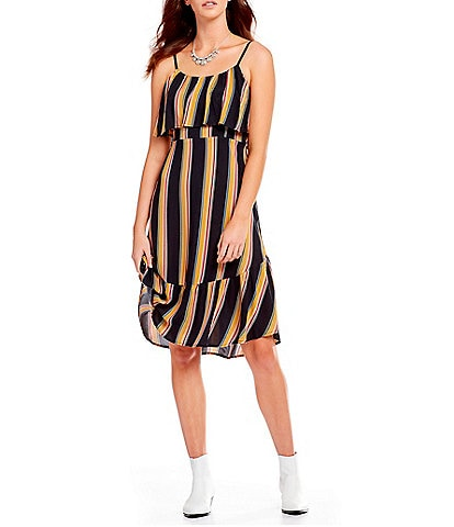 Band Of Gypsies Bridget Striped Shift Dress