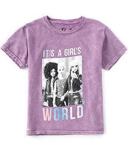 Barbie Big Girls 7-16 Short-Sleeve It's A Girl's World Tee