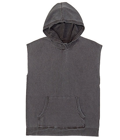 Barefoot Dreams Sunbleached Sleeveless Pull-Over Hoodie