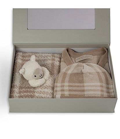 Barefoot Dreams Baby 3-18 Months CozyChic Plaid Baby Bundle Set