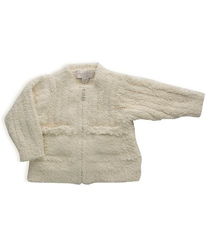 Barefoot Dreams Baby 3-18 Months CozyChic® Zip Front Fringe Cardigan