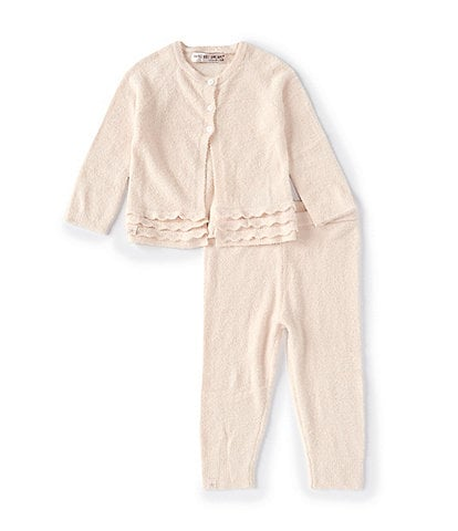 Barefoot Dreams Baby Girls 6-24 Months CozyChic Lite Heirloom Cardigan & Pant Set