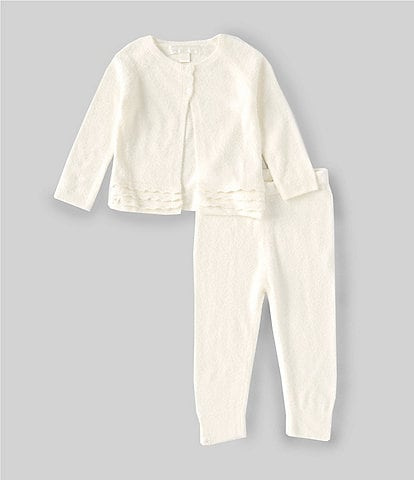 Barefoot Dreams Baby Girls 6-24 Months CozyChic Lite Heirloom Cardigan & Pant Set