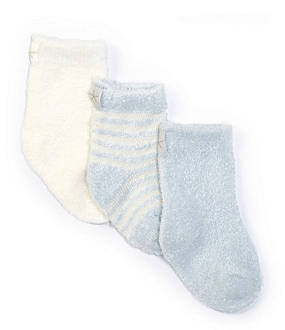 Barefoot Dreams Baby Newborn-6 Months CozyChic Lite Socks 3-Pack