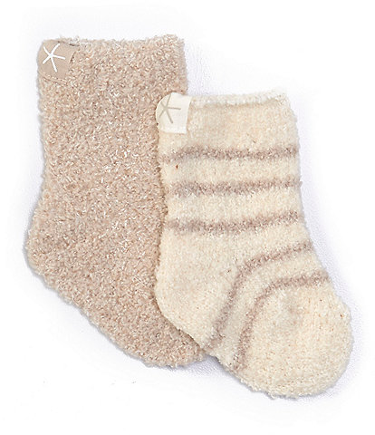 Barefoot Dreams Baby Newborn-6 Months CozyChic Socks 2-Pack