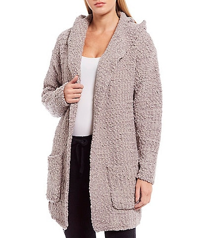 Barefoot Dreams Boucle Hooded Cardigan