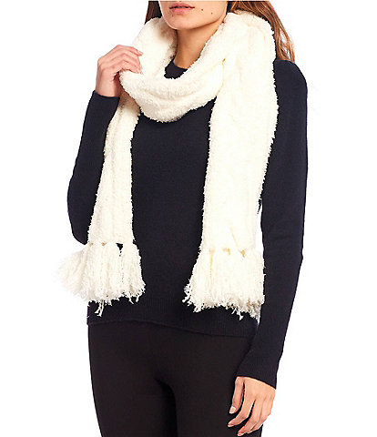 Barefoot Dreams Cozy Chic Collection Cable Scarf