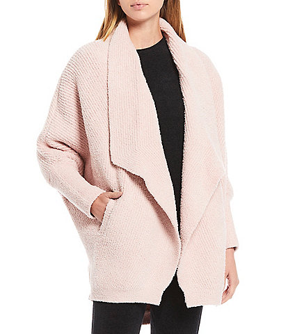 Barefoot Dreams CozyChic Chevron Ribbed Lounge Cardigan