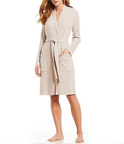 Barefoot Dreams CozyChic Light Ribbed Short Wrap Robe