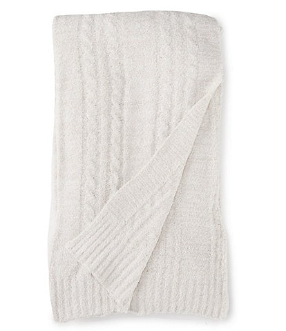 Barefoot Dreams Cozychic Lite Heathered Cable Throw