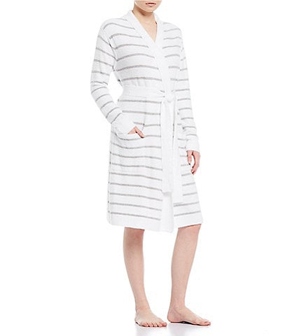 Barefoot Dreams CozyChic Lite Striped Wrap Robe