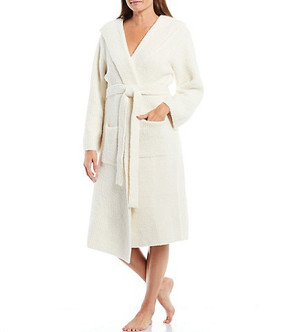 Barefoot Dreams Cozychic Solid Ribbed Hooded Lounge Robe