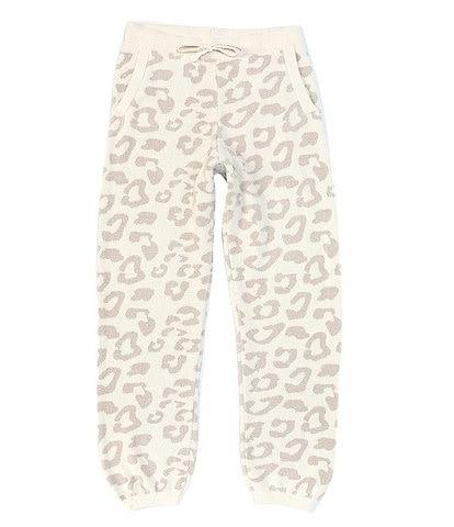 Barefoot Dreams Girls 6-14 CozyChic Ultra Lite® Leopard Print Track Pant