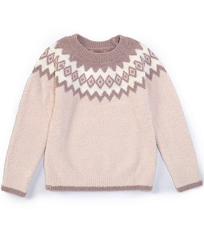 Barefoot Dreams Girls 6-14 Nordic Pullover Sweater