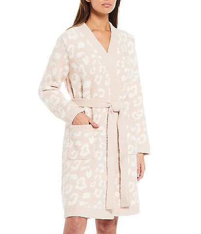 Barefoot Dreams In The Wild CozyChic Plush Long Sleeve Wrap Robe