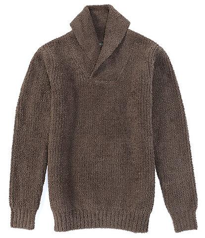 Barefoot Dreams Long-Sleeve Aran Shawl Collar Pullover Sweater