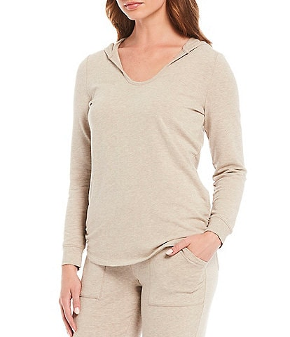 Barefoot Dreams Malibu Luxe Brushed Jersey Lounge Hoodie